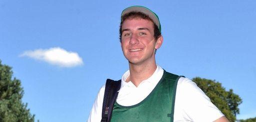 J.T. Surlis, caddie at Southward Ho Country Club