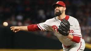 Relief pitcher Pat Neshek of the Philadelphia Phillies