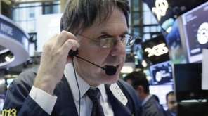 Trader Joseph Chirico at the NYSE, Wednesday, July
