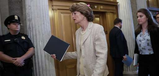 Sen. Lisa Murkowski, R-Alaska, arrives for a vote