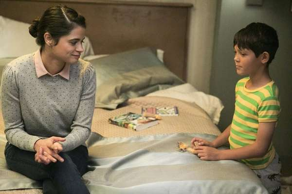 Melonie Diaz and Ethan Kent in HBO's
