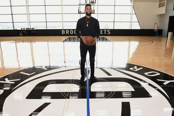 New Nets guard/forward Allen Crabbe at Nets' HSS