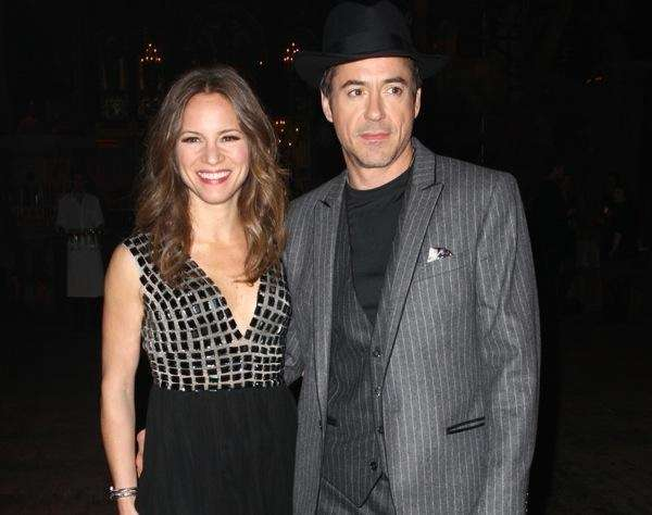 Film producer Susan Levin and actor Robert Downey