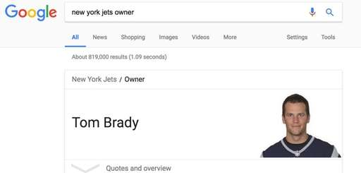 A screenshot of a Google search for