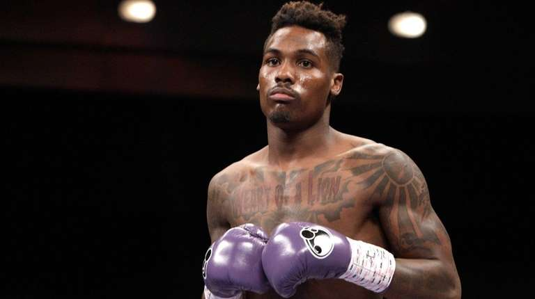 Jermall Charlo is shown before the start of