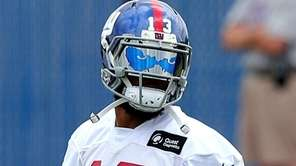 Giants wide receiver Odell Beckham Jr. between drills