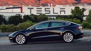 This undated image provided by Tesla Motors shows