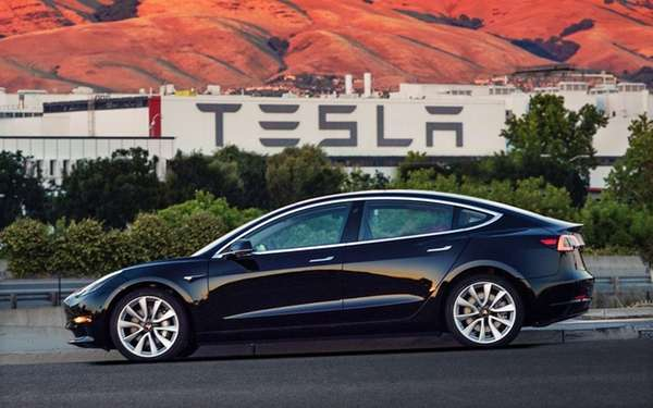 An undated image provided by Tesla Motors of