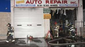 Firefighters respond to a blaze at Payero Auto