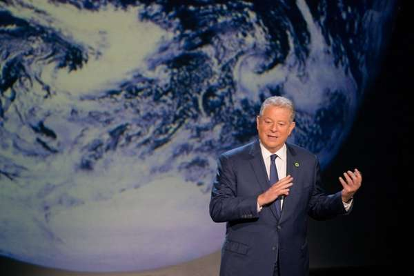 Al Gore gives a global-warming update in