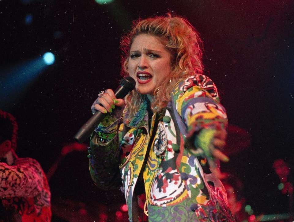Pop superstar Madonna stayed at the top of