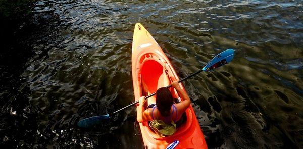 Carmans River Canoe and Kayak II offers full-moon