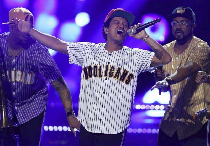 Stage name: Bruno Mars Birth name: Peter Gene