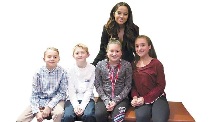 Singer and actress Becky G with Kidsday reporters,