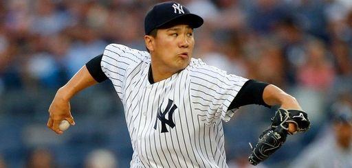 Yankees starter Masahiro Tanaka walks to the dugout