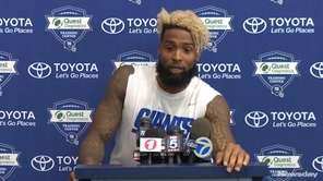 Giants wide receiver Odell Beckham Jr. met with the