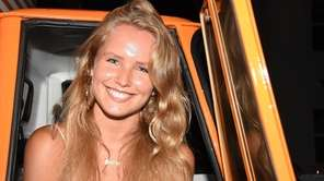 Sailor Brinkley-Cook, Christy Brinkley's daughter, attends the Hamptons