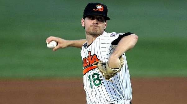 Long Island Ducks pitcher Tyler Levine, a East