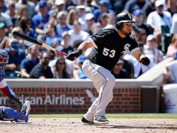 Chicago White Sox's Melky Cabrera singles off Chicago