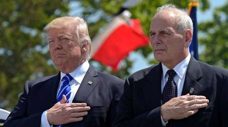 President Donald Trump and Chief of Staff John Kelly