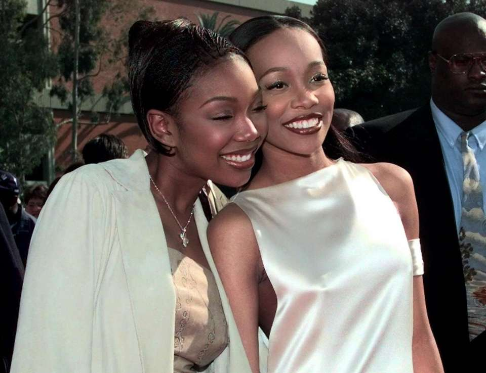 R&B singers Brandy and Monica teamed up in