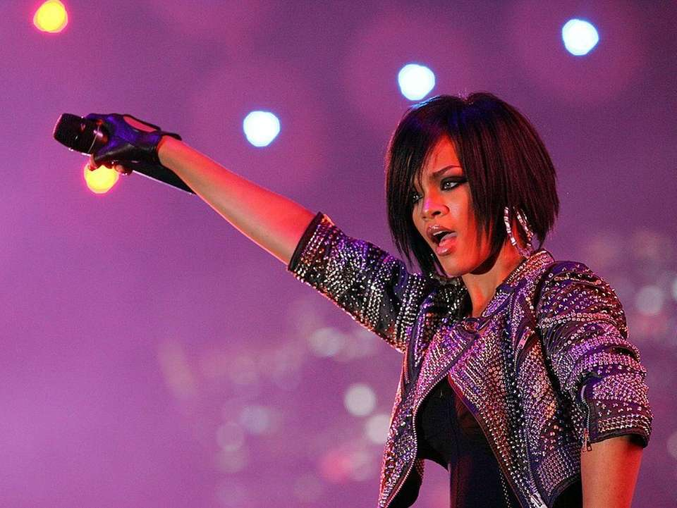Barbados-born singer Rihanna topped the Billboard charts with