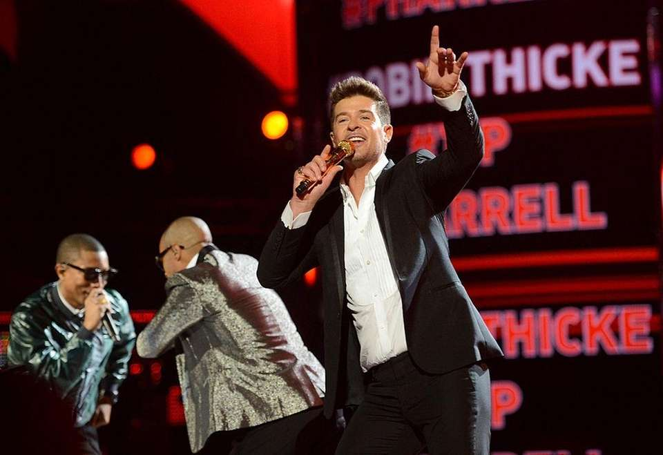 Robin Thicke, Pharrell Williams and T.I. dominated the