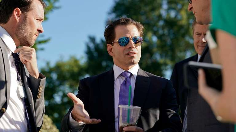 White House communications director Anthony Scaramucci speaks to