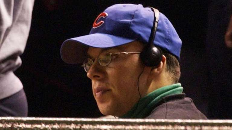 Chicago Cubs fan Steve Bartman sits in the