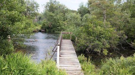 Connetquot River State Park Preserve, along Bohemia's western