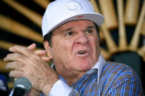 Former baseball player and manager Pete Rose speaks