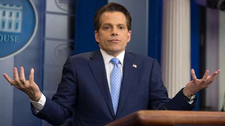 Anthony Scaramucci, seen July 21, 2017, was given