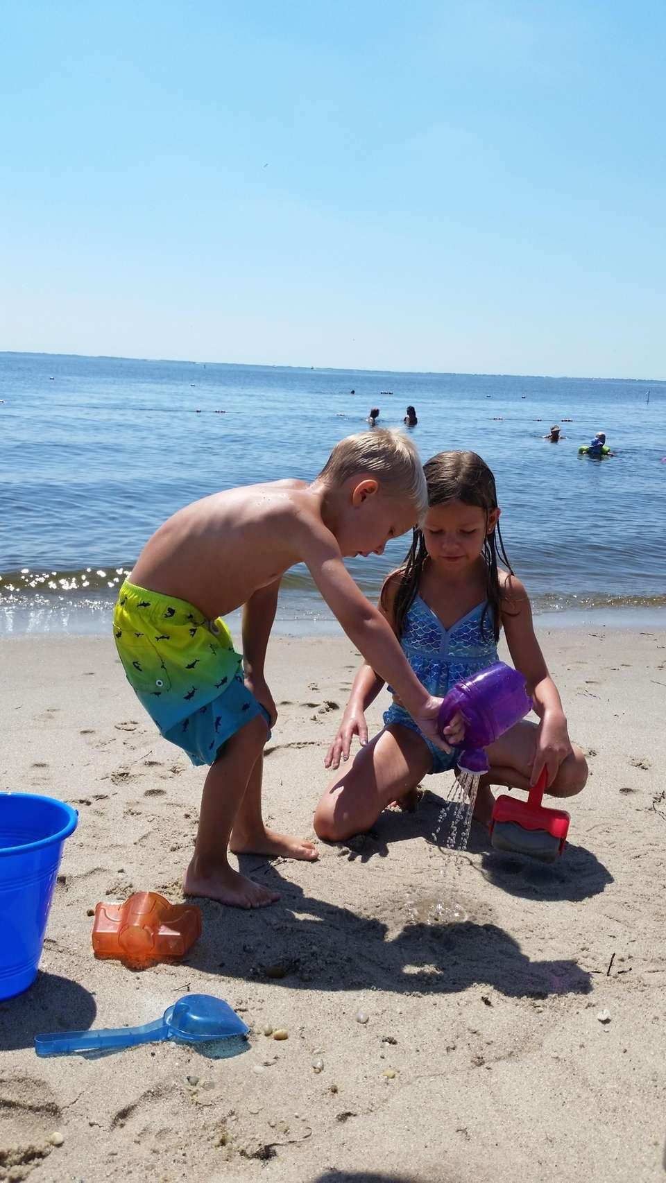 My two grandchildren Jimmy 4yo and his sister