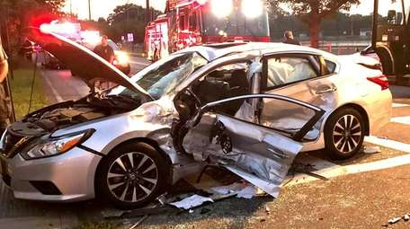Firefighters responded to a crash at Pulaski and