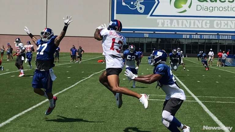 On day 4 of training camp, Giants players