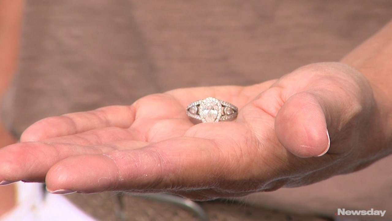 Maria Coccaro, who realized her engagement ring was