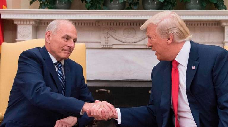 Newly sworn-in White House Chief of Staff John