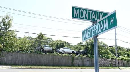 A junkyard in East Patchogue on Tuesday, Aug.