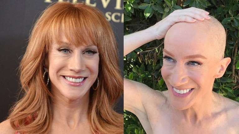 Kathy Griffin, left, at the 2014 Emmy