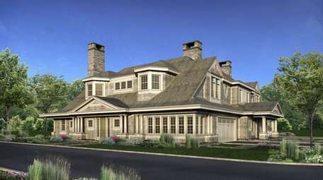 A rendering of the duplex town house proposed