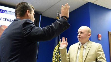 Sean Patrick Dixon is sworn in as
