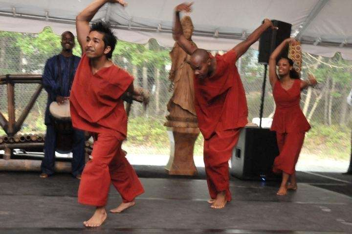 August 22- Watermill:(l-r) Dancers from the