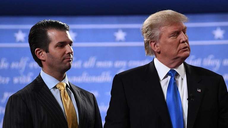 President Donald Trump with his oldest son, Donald