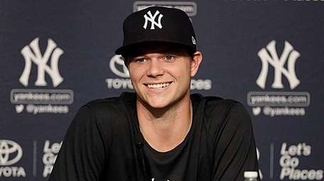 New Yankees pitcher Sonny Gray meets with the