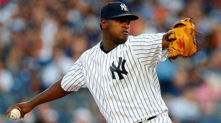 Luis Severino struck out eight in five innings
