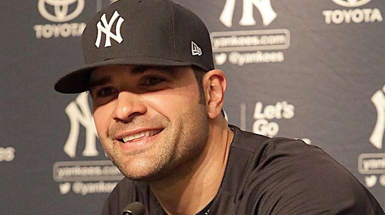 New Yankees pitcher Jaime Garcia meets with the