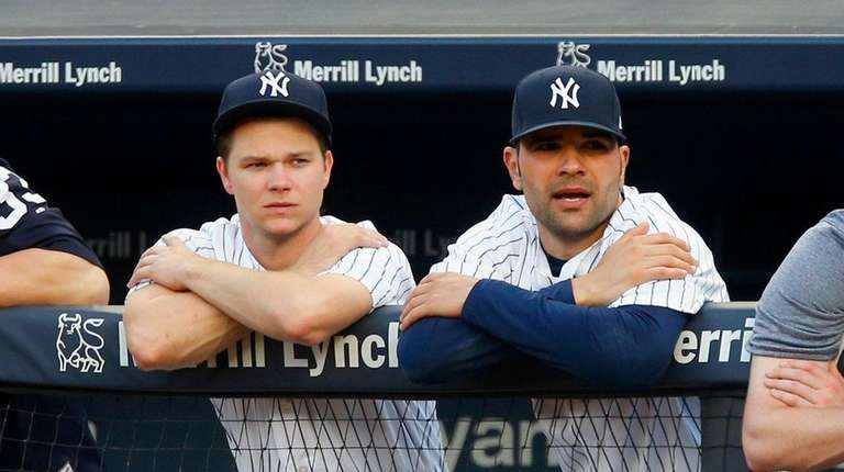 New Yankees pitchers Sonny Gray, left, and Jaime