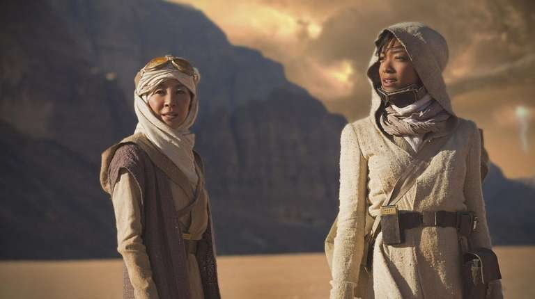 Michelle Yeoh, left, and Sonequa Martin-Green star in