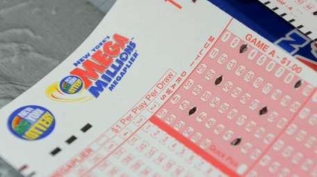 A Mega Millions ticket in an undated image.