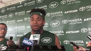 Jets rookie safety Jamal Adams faced questions on